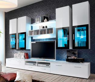 Presto 1 - High gloss white modern tv unit