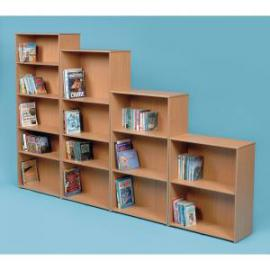 Classmates Single Sided Adjustable Bookcase 700 x 320 x 1245mm, Free