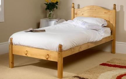 Friendship Mill Orlando Wooden Bed Frame, Small Single, No Storage, Low Foot End