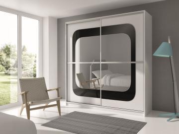 Malton - white sliding wardrobe doors