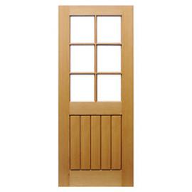 Wickes Geneva Glazed Oak 5 Panel Internal Door - 1981mm x 762mm