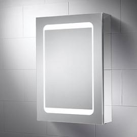 Wickes Earth LED Mirror Cabinet with Integrated Shaver Socket