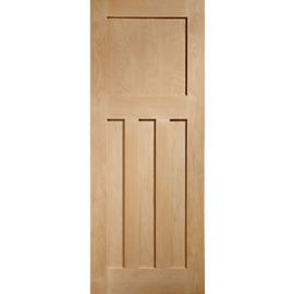 XL Joinery 1930s Classic Fully Finished Oak 3 Panel Internal Door - 1981mm x 686mm
