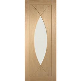 XL Joinery Pesaro Glazed Oak Patterned Internal Door - 1981mm x 762mm