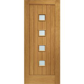 XL Siena External Oak Right Handed Fully Finished Door Set 2067 x 926mm