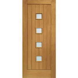 XL Siena External Oak Left Handed Fully Finished Door Set 2067 x 926mm
