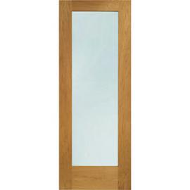 XL Pattern 10 External Oak Right Opening Fully Finished Door Set 2067 x 850mm