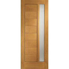 XL Modena External Oak Right Handed Fully Finished Door Set 2067 x 926mm