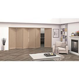 Jeld-Wen Geneva Oak Cottage 5 Panel Internal Bi-Fold 6 Door Set - 2047mm x 3771mm