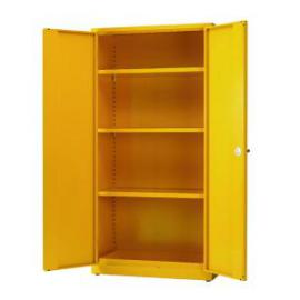 Hazardous Substance Storage Cabinet 72x36x18 inch cw 3 Shelf Yellow