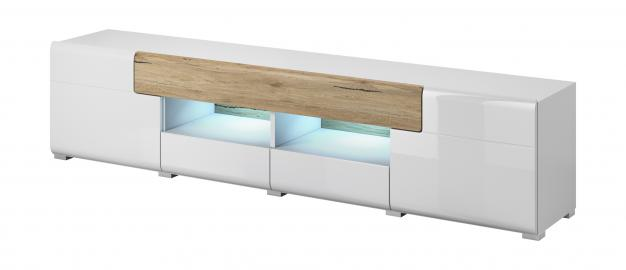 Toledo TYP40 - long white tv stand