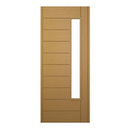 JCI Ultimate Stockholm External Oak Glazed Door 1981 x 762mm