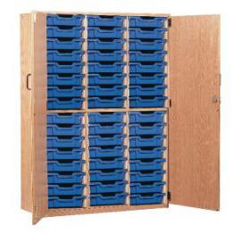 Jemini Storage Cupboard 48 Tray Beech KF72574
