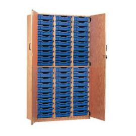 Jemini Storage Cupboard 60 Tray Beech KF72575