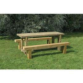 Forest Garden Sleeper Bench and Table Set - 1.8m