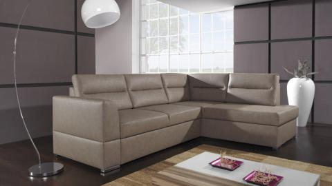 FLOO II - Faux Leather corner sofa