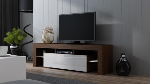 Milano 160 - walnut modern TV stand.