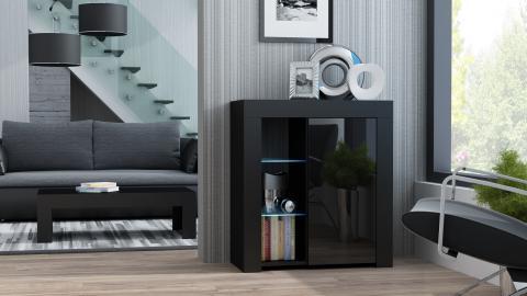 Milano Sideboard 1D  - black affordable black dresser