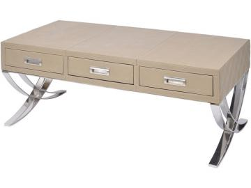 Moseley Beige Leather Coffee Table