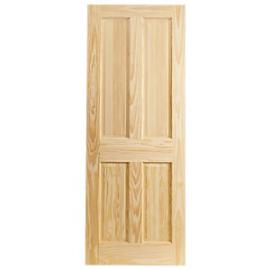 Wickes Skipton Internal Clear Pine 4 Panel Fire Door - 1981 x 762mm