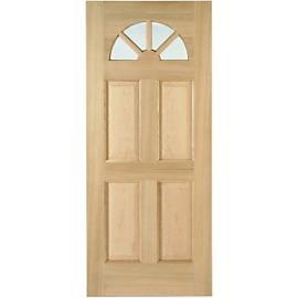 Wickes Carolina External Oak Veneer Door Glazed 4 Panel 2032 x 813mm
