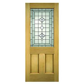 Wickes Avon External Oak Door Glazed 2 Panel 1981 x 838mm