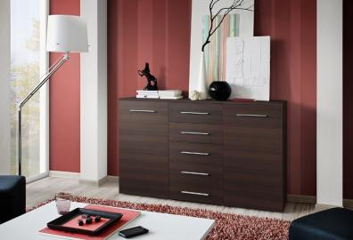 SB FOX 7 - Wenge 5 drawer dresser
