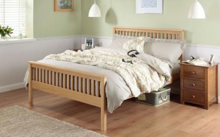 Silentnight Dakota Oak Wooden Bed Frame, Single