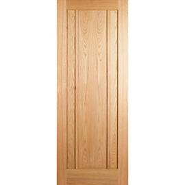 Wickes York Internal 3 Panel Oak Fire Door - 1981 x 762mm