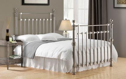 Time Living Edward Metal Bed Frame, Superking