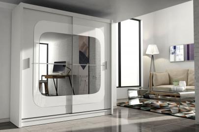 Chelston - mirrored storage armoire