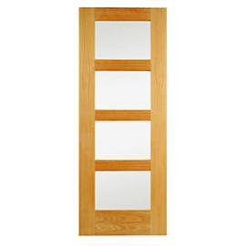 Wickes Marlow Fully Glazed Oak 4 Panel Internal Door - 1981mm x 762mm