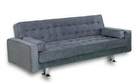 Rudolpho Signature Convertible Sofa Bed Charcoal by Lifestyle