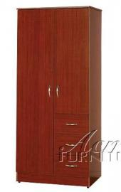 Modern Contemporary Cherry Finish Wood Wardrobe by Acme Furniture