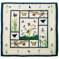 "Butterfly Kisses Quilt Queen/Full 85""x 95"" QQBKSS by Patch Magic"