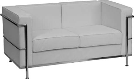 1pc Modern Leather Office Reception Loveseat, FF-0461-12