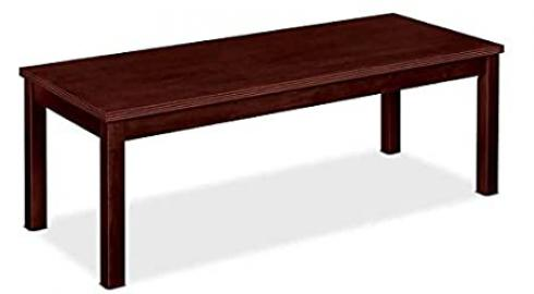 Rectangular Wood Stained Coffee Table w Beaded Edge Detail (Mahogany)