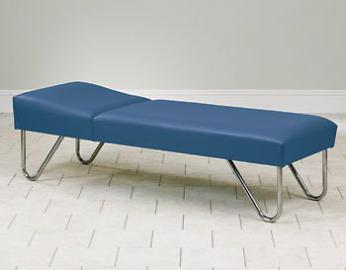 "Clinton Chrome Leg Recovery Couch 24"" wide Item# 3600-24"