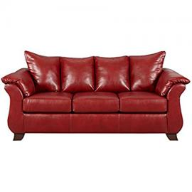 Flash Furniture Exceptional Designs Leather Sofa, Sierra Red