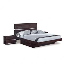 Global Furniture Aurora Collection MDF/Wood Veneer Bedroom Set with Full Bed, Wenge
