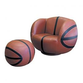 2 pcs Swivel Chair and Ottoman Set with Basketball Design