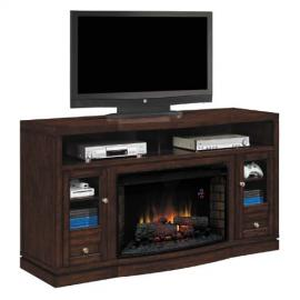 "ClassicFlame 32MM6449-C247 Wesleyan TV Stand for TVs up to 70"", Meridian Cherry (Electric Fireplace Insert sold separately)"