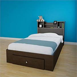 Nexera Pocono 2 Piece Twin Bedroom Set in Espresso with 1 Drawer
