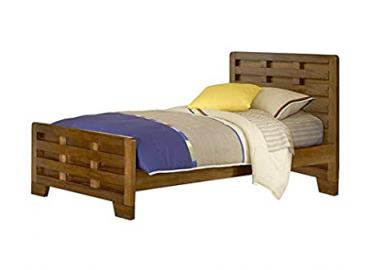 Best Home Hardy Children Interlocking Wood Slats Twin Size Bed for Kids