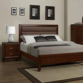 Homelegance Bleeker 2 Piece Platform Bedroom Set in Brown Cherry