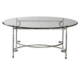 Uttermost Nuncia Silver Glass Coffee Table