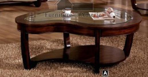 Abnormity Coffee Table with Glass Top # CM4336C