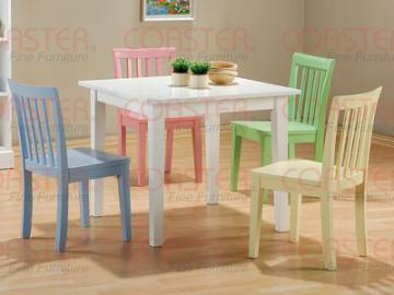 5PC Kids Play Table Set With One Play Table And Four Multicolor Chairs In Multicolor Finish. (Item# Vista Furniture CF460235)