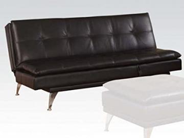 Black PU Adjustable Sofa by Acme Furniture