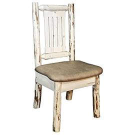 Montana Side Chair with Upholstered Buckskin Pattern Seat